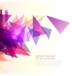 Abstract burst of pink and purple triangles shape vector
