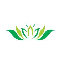 abstract lotus logo vector image