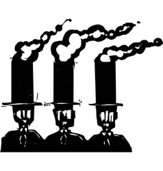 Business smokestacks vector