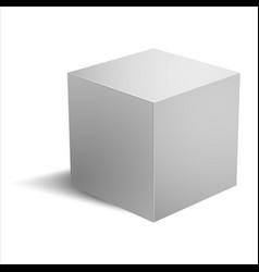 Realistic cube vector