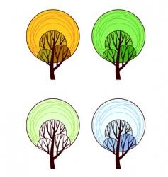 Stylized tree vector