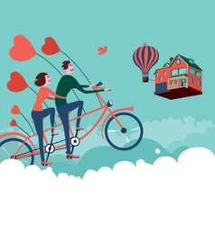 Flying to home vector