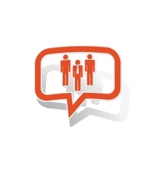 Work group message sticker orange vector