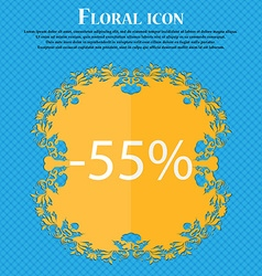 55 percent discount sign icon sale symbol special vector