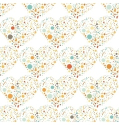 Splatter hearts seamless surface pattern vector