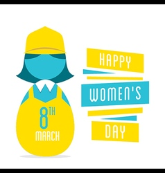 Happy womens day women profession design vector
