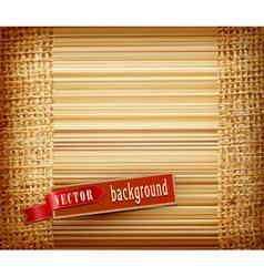 Background texture burlap vector