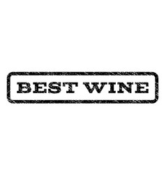 best wine watermark stamp vector image vector image