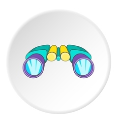 Binocular icon cartoon style vector