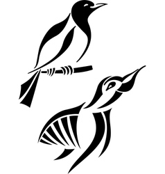 Bird symbols vector image
