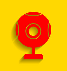 Chat web camera sign red icon with soft vector