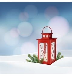 Christmas greeting card invitation Winter scene vector image