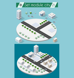 cityscape design elements vector image