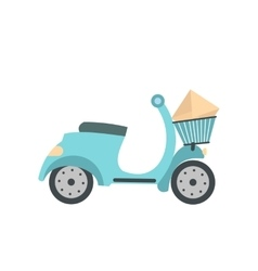 Delivery scooter flat icon vector