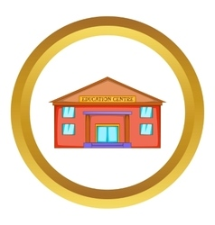 Education centre building icon vector