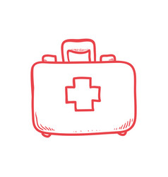 First aids suitcase vector