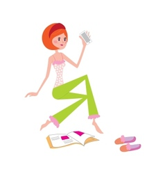 Girl at home vector