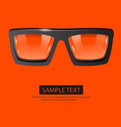 Glasses orange background vector