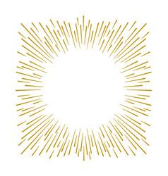 gold firework design on white background vector image vector image