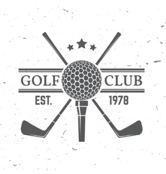 Golf club concept with golf ball silhouette vector image vector image