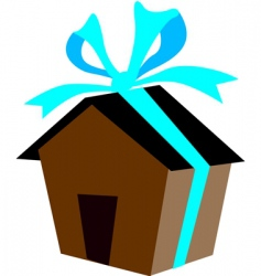 house gift vector image vector image