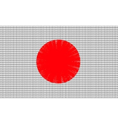 Japan flag embroidery design pattern vector