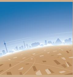 Las vegas skyline aerial view vector