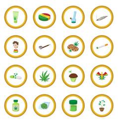 Medical marijuana icon circle vector