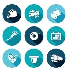 Mine icons set vector