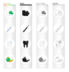 Mint chewing gum a mechanical toothbrush for vector
