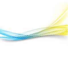Modern bright swoosh line border layout vector