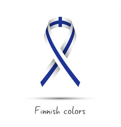 modern colored ribbon with the finnish colors vector image vector image