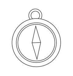 Navigation compass icon destination travel vector