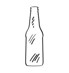 outline of a beer bottle vector image