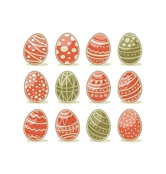 Painted Easter Eggs vector image vector image