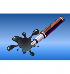 pen and blot vector image vector image