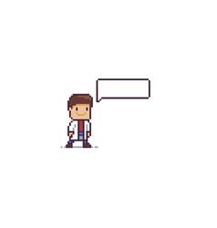 Pixel art doc vector