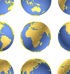 Seamless Earth globes pattern vector image
