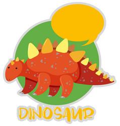 Sticker design with stegosaurus vector