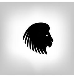 Stylized lion head - vector