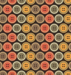 The pattern of colored buttons vector image