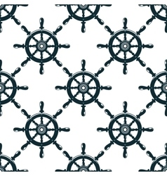 Vintage nautical helms seamless pattern vector image