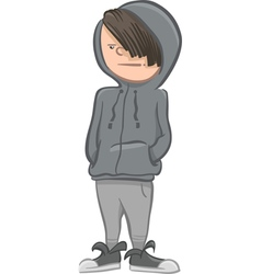 Boy character cartoon vector