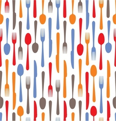 cutlery icons background vector image