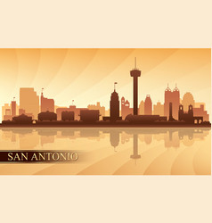 San antonio city skyline silhouette background vector