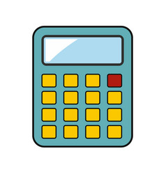 calculator building isolated on a white background vector image