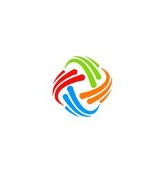 circle abstract swirl technology logo vector image