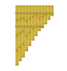 Cartoon pan flute vector