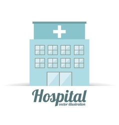 Hospital building design vector