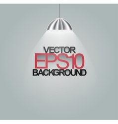 Spotlight illuminating on grey background vector
